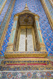 Thai temple windows. Thai Architecture windows, Temple of the Emerald Buddha stock photography