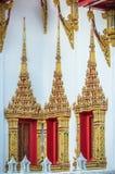 Thai temple, windows  and frames, Bangkok. Stock Photo