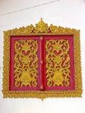 Thai temple windows Royalty Free Stock Photography