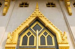Thai temple windows sculpture Stock Photography