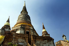 Thai temples in Bangkok. Temples and pagodas in Ayutthaia, ancient capital of Thai kingdoms, near Bagkok Stock Images