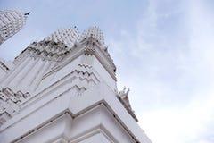 Thai temples and beautiful white pagoda are beautiful stucco designs. The ancient Buddha image. Wat Phra Mahathat Phetchaburi, Thailand stock photography