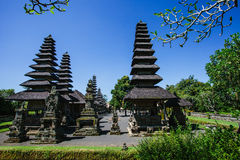 Thai Temples. Thatched roof Thai temples against a blue sky Stock Photo