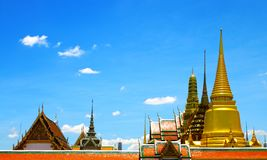 Thai temples, Wat Phra Kaew Royalty Free Stock Photography