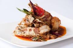 Thai Tempura Shrimp Skewers Stock Photography