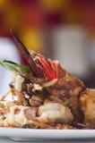 Thai Tempura Shrimp Skewers Stock Images