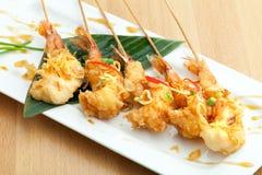 Thai Tempura Shrimp Skewers Stock Photos
