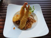 Thai tempura. Shrimp tempura in thailand Stock Photography
