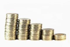 Thai ten bath coin steps Stock Image