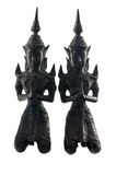 Thai Teppanom Angel Statuettes Closeup Stock Photography
