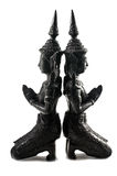 Thai Teppanom Angel Statuettes Closeup Stock Photo