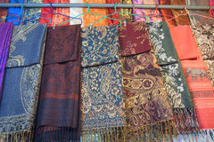 Thai textile hanging for sale Stock Photo