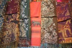 Thai textile for sale at Chatuchak Royalty Free Stock Photos