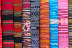 Thai textile texture Royalty Free Stock Image