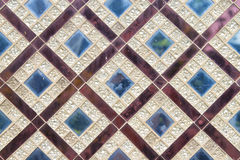 Thai texture. Square gold with blue ruby Thai texture Royalty Free Stock Image
