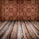 Thai texture on wood Royalty Free Stock Photos