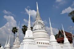 thai thailand för ayutthayachedistempel white Royaltyfria Foton