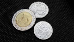 Thai three coins Royalty Free Stock Image