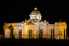 Thai throne hall at night Royalty Free Stock Image