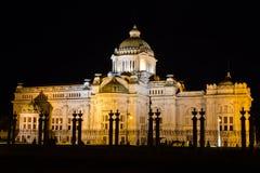 Thai throne hall at night Royalty Free Stock Image