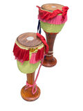Thai tom-tom drum with istoted on white.  Royalty Free Stock Photography