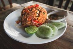 Thai Tom Yam Fired Rice. Royalty Free Stock Photo