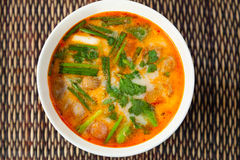 Thai Tom Yam traditional soup Royalty Free Stock Photography