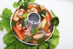 Thai Tom Yum Hot Pot. Spicy Thai Tom Yum Hot Pot Stock Photography