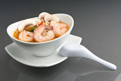 Thai Tom Yum Khoong Soup Royalty Free Stock Images