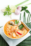 Thai Tom Yum Soup with Shrimp Royalty Free Stock Photography
