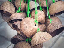 Thai toys made from coconut shell Stock Image