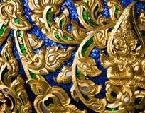 thai trä för konstcarvingsdatalista Fotografering för Bildbyråer