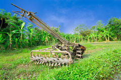 Thai tractor. In the orchard Royalty Free Stock Image