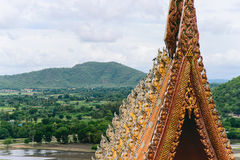 Thai Tradition of Architecture and Nature Stock Images