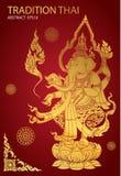 Thai tradition buddha hindu. Vector Stock Images