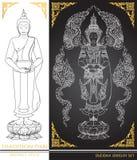Thai tradition Buddha Jewelry Set. Vector Royalty Free Stock Photos