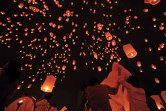 Thai Tradition Fire Balloon Royalty Free Stock Photo