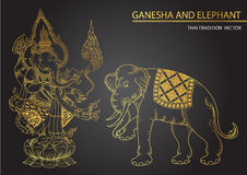 Thai tradition Ganesha son of Siva Stock Photo