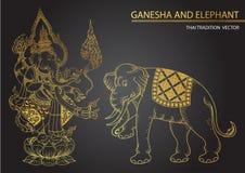 Thai tradition Ganesha son of Siva. Vector Stock Photo