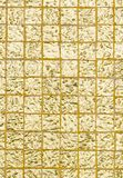 Thai tradition gold color of wall for text and background Royalty Free Stock Photos