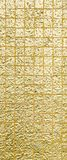 Thai tradition gold color of wall for text and background Stock Images