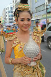 Thai Tradition at Hat Yai Loyalty Parade Stock Photos