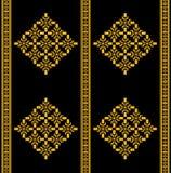 Thai Tradition Seamless Pattern Style. Golden-Black color Thai style seamless pattern Stock Images