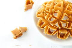 Thai tradition snack on white plate. Stock Image