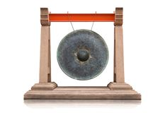 Thai traditional antique gong stock photo