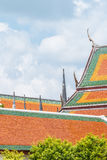 Thai traditional art temple roof. Stock Image