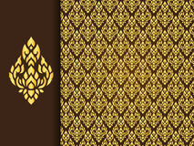 Thai traditional background ( Lai Thai pattern ) Royalty Free Stock Images