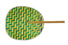 Thai traditional bamboo fan isolated on white Stock Photo