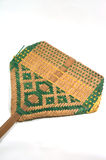 Thai traditional bamboo fan isolated Royalty Free Stock Image