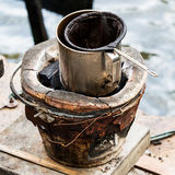 Thai traditional black coffee Royalty Free Stock Photos